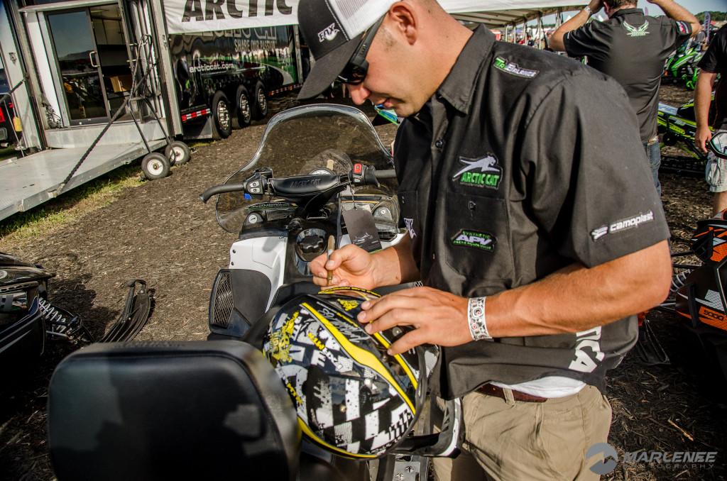 David McClure signs FXR Helmet