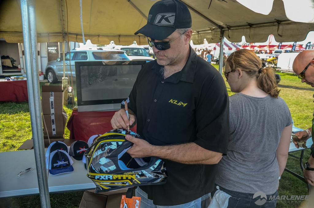 Mark Mesenbrink signs FXR Helmet