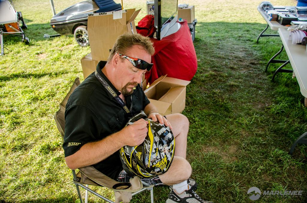 Jim Phelan signs FXR Helmet