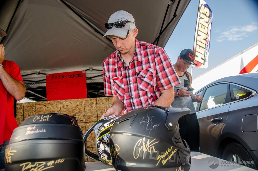 Matt Entz signs FXR Helmet