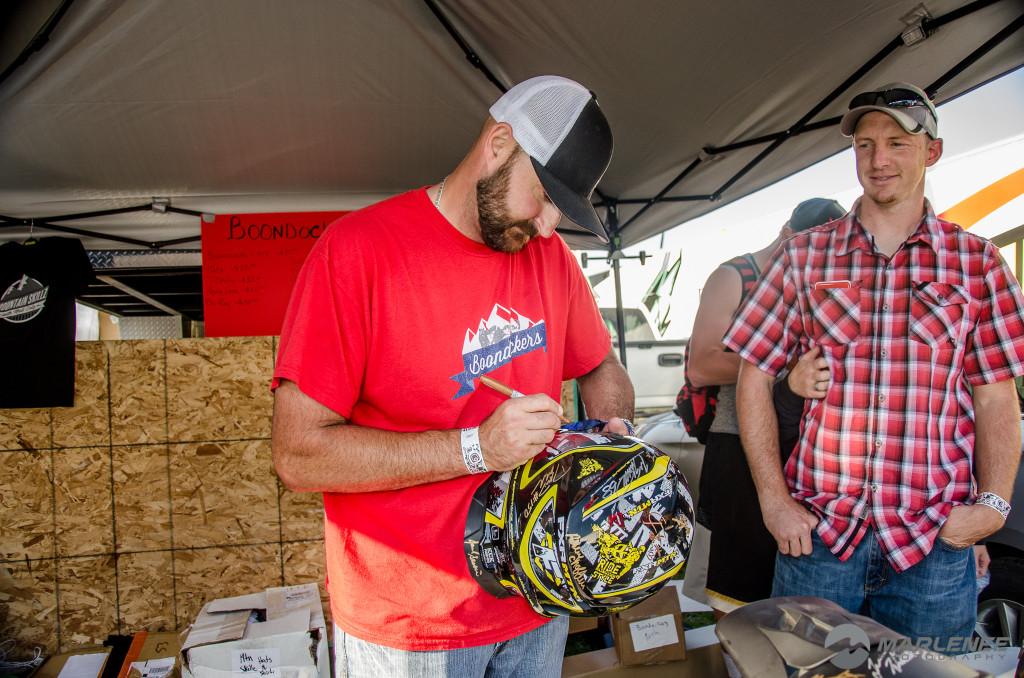 Kris 'Smasher' Kaltenbacher signs FXR Helmet