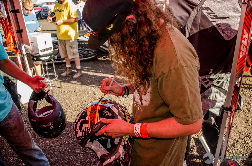 Colten Moore signs FXR Helmet