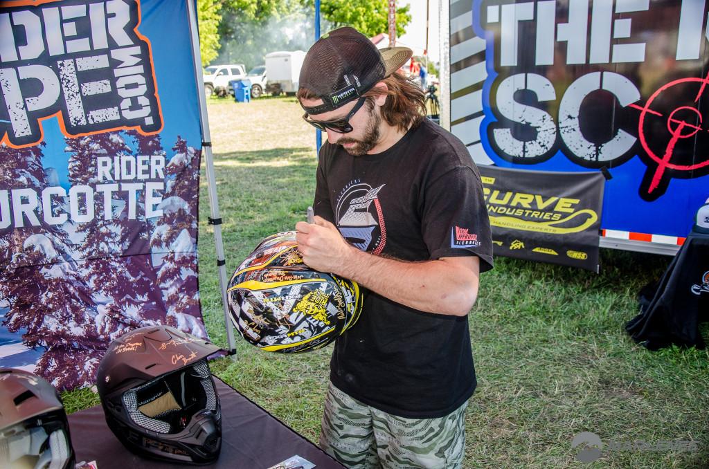 Brett Turcotte signs FXR Helmet