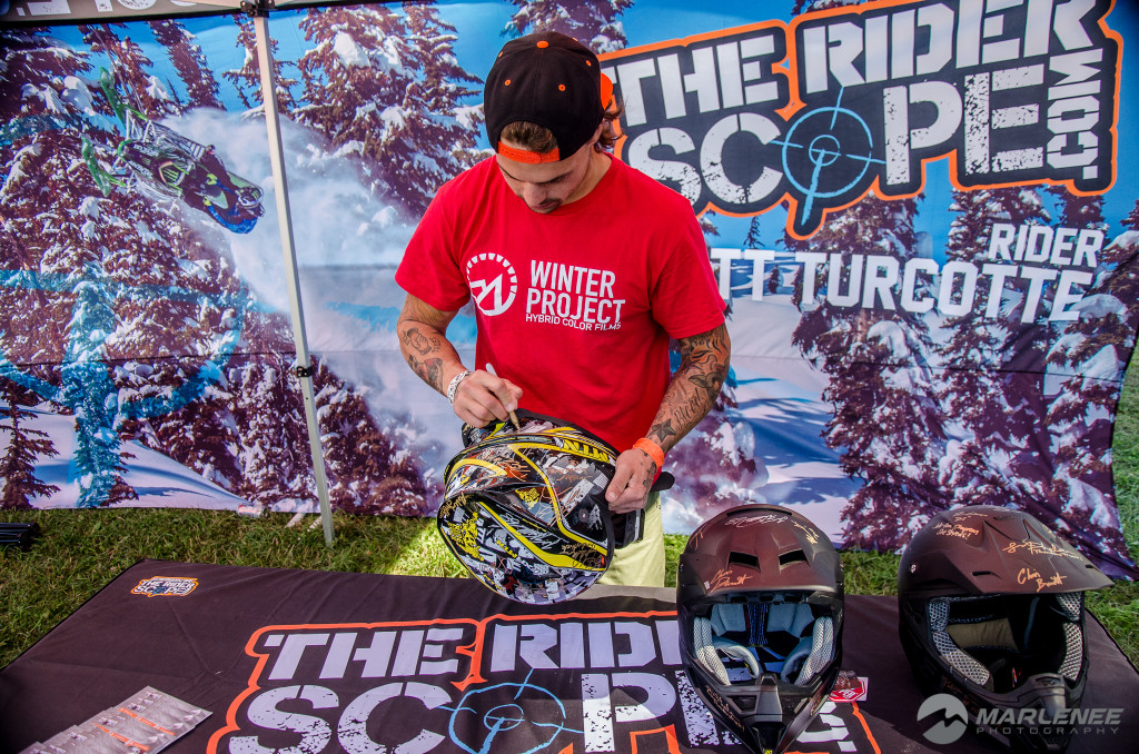 Josh Penner signs FXR Helmet