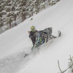 Steven Marlenee on a Turbo Polaris Snowmobile
