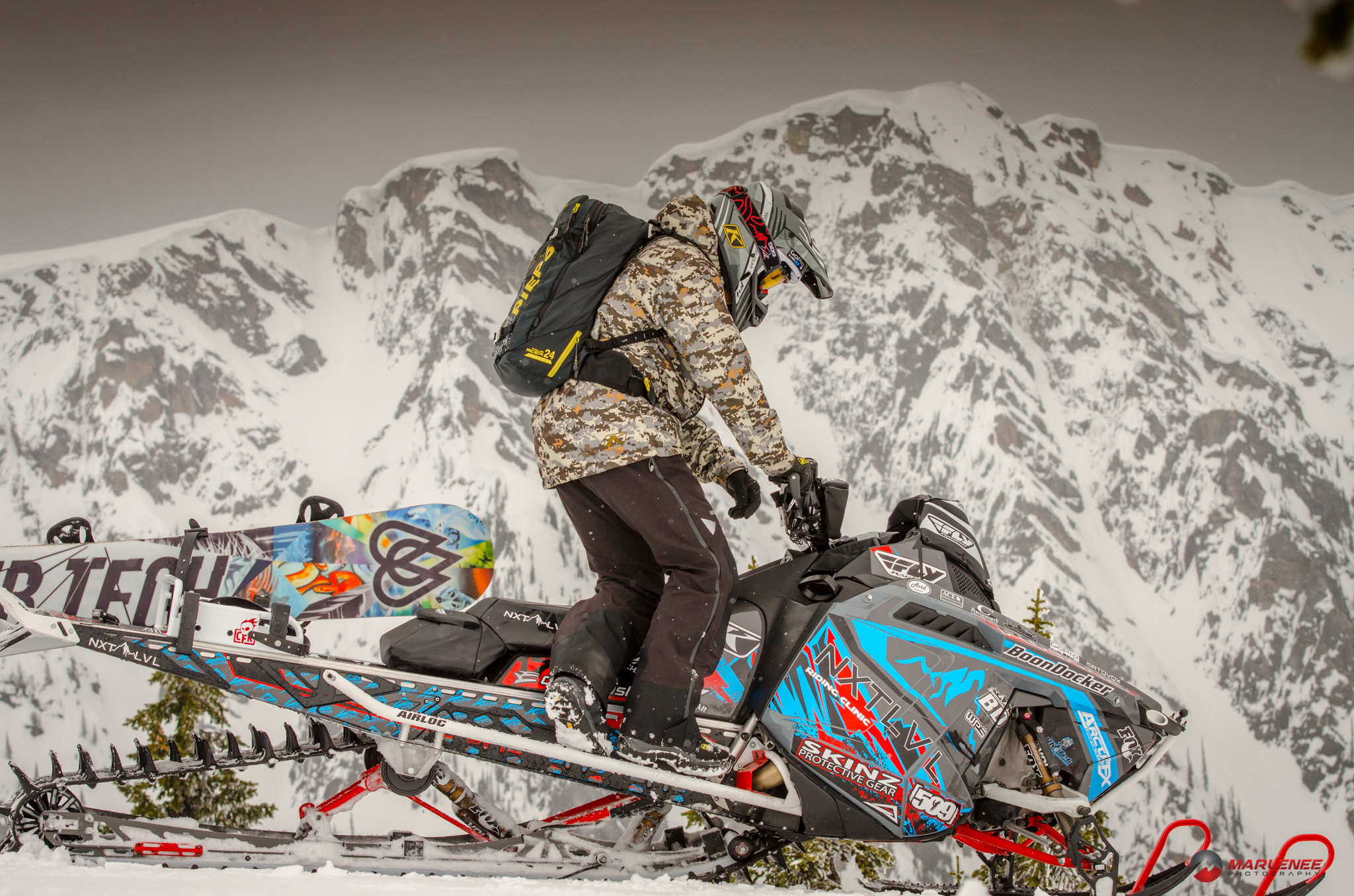 Dan Adams tests out the new Klim crossover gear in Revelstoke, BC