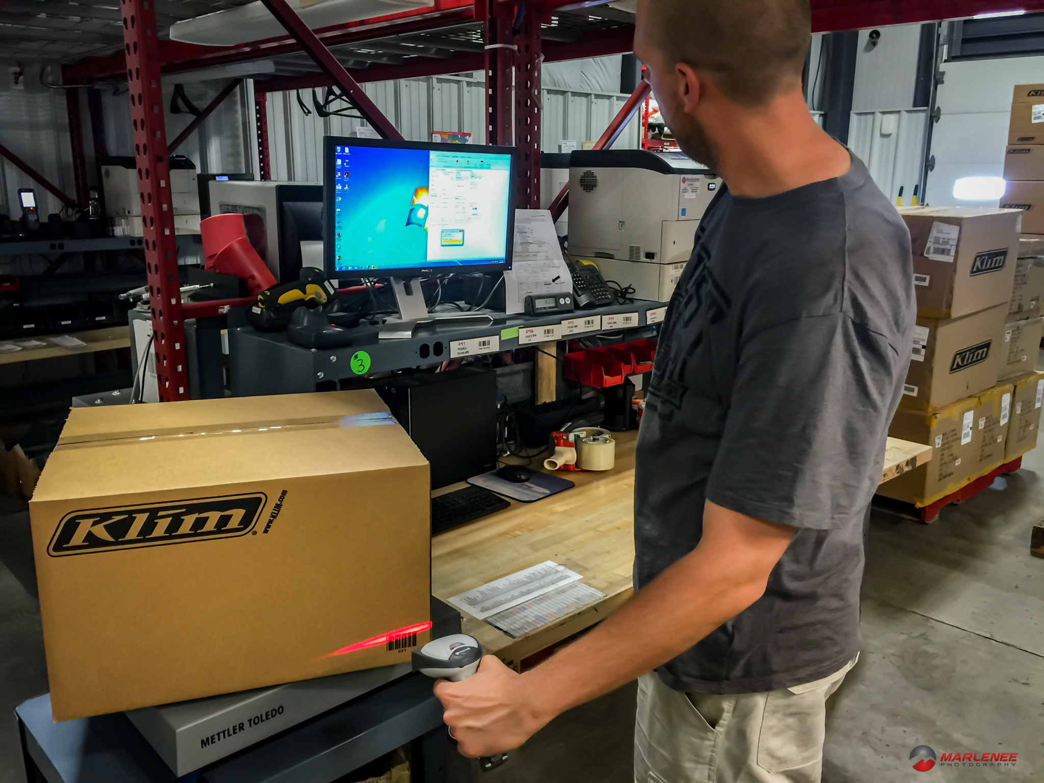 The Klim shipping department carefully weighs each package to make sure you get what you ordered