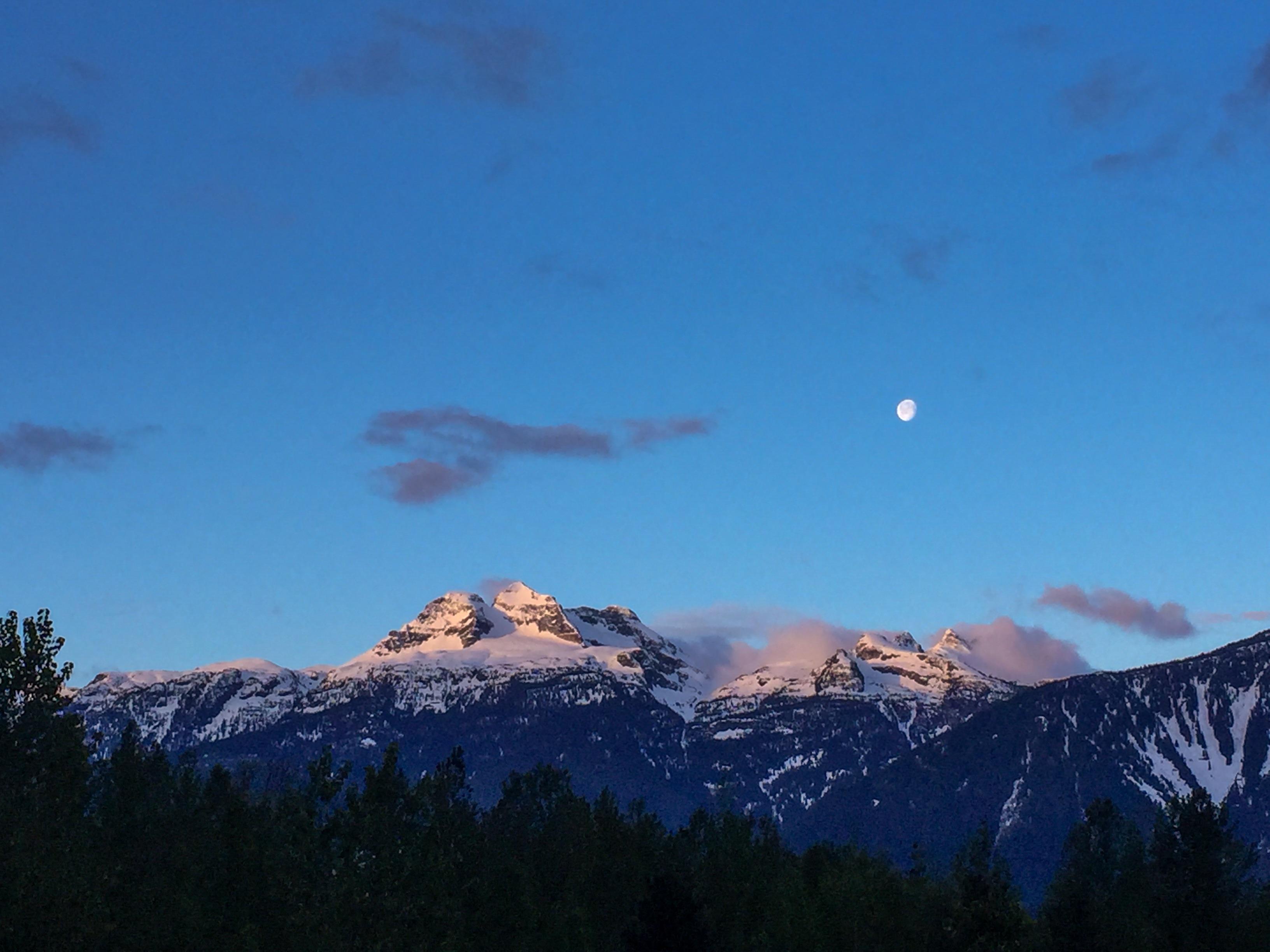 Sunrise near Revelstoke, BC