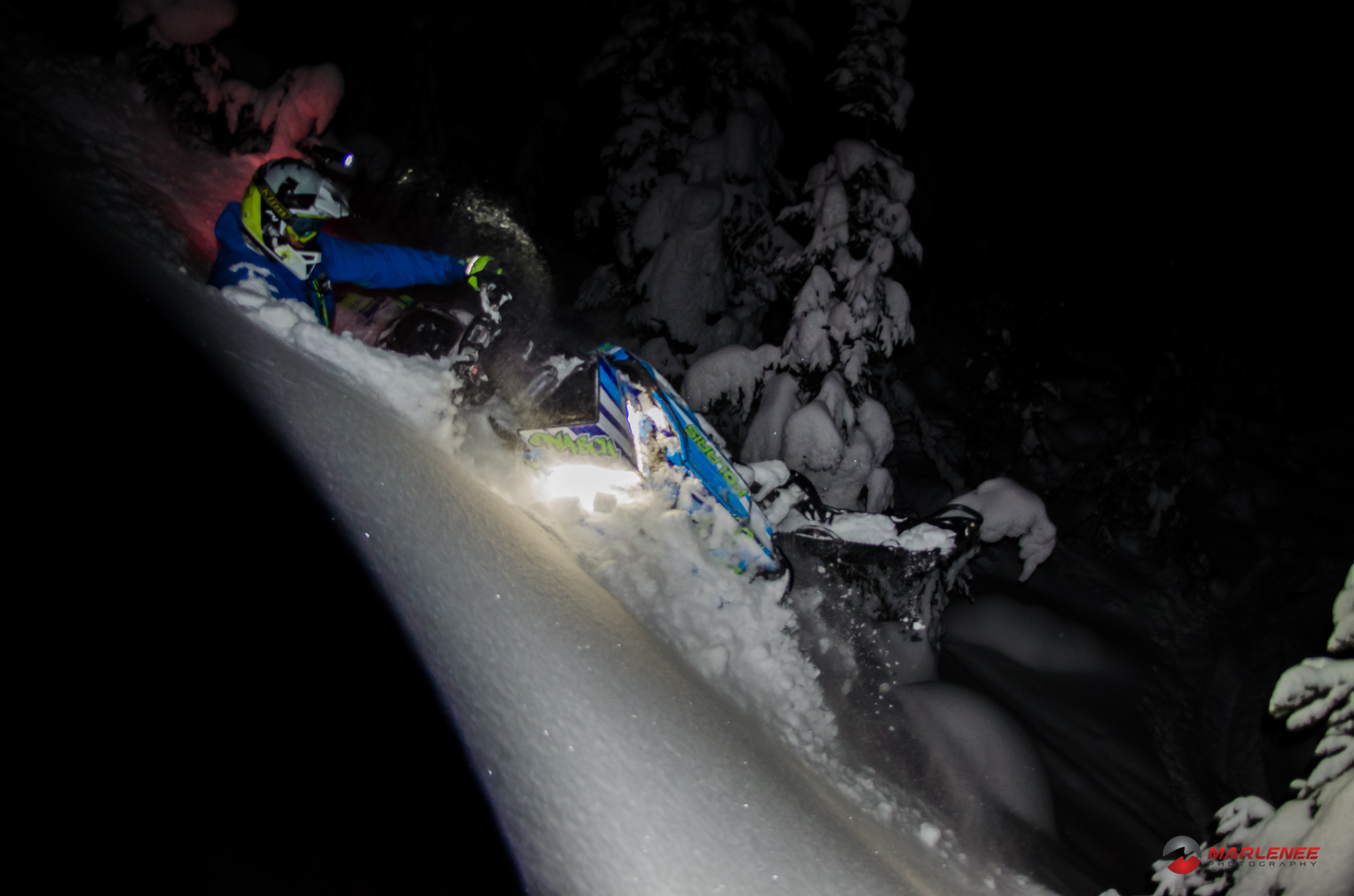 Adam Onasch tears it up in the dark