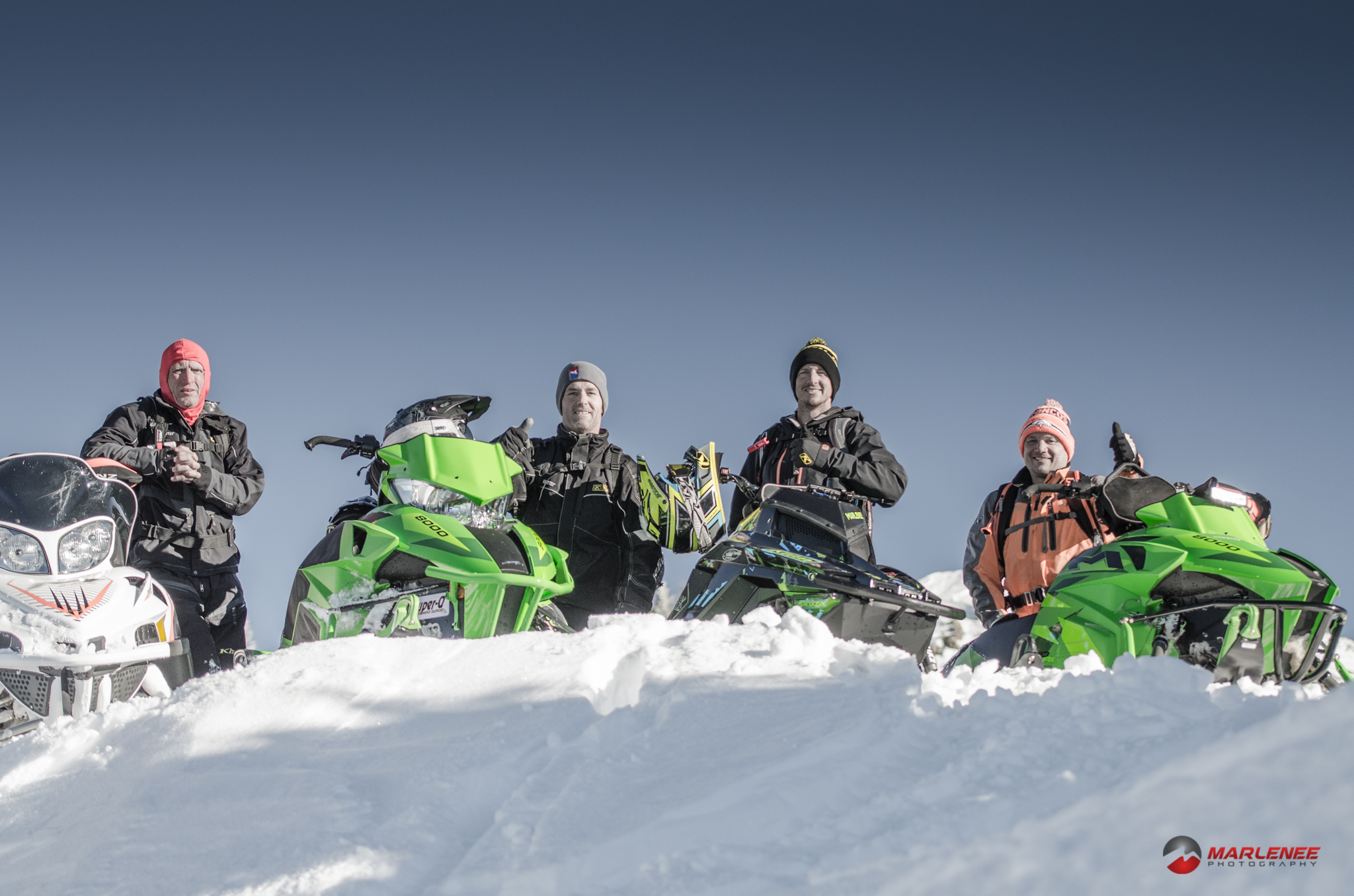 Friends are the best part of snowmobiling