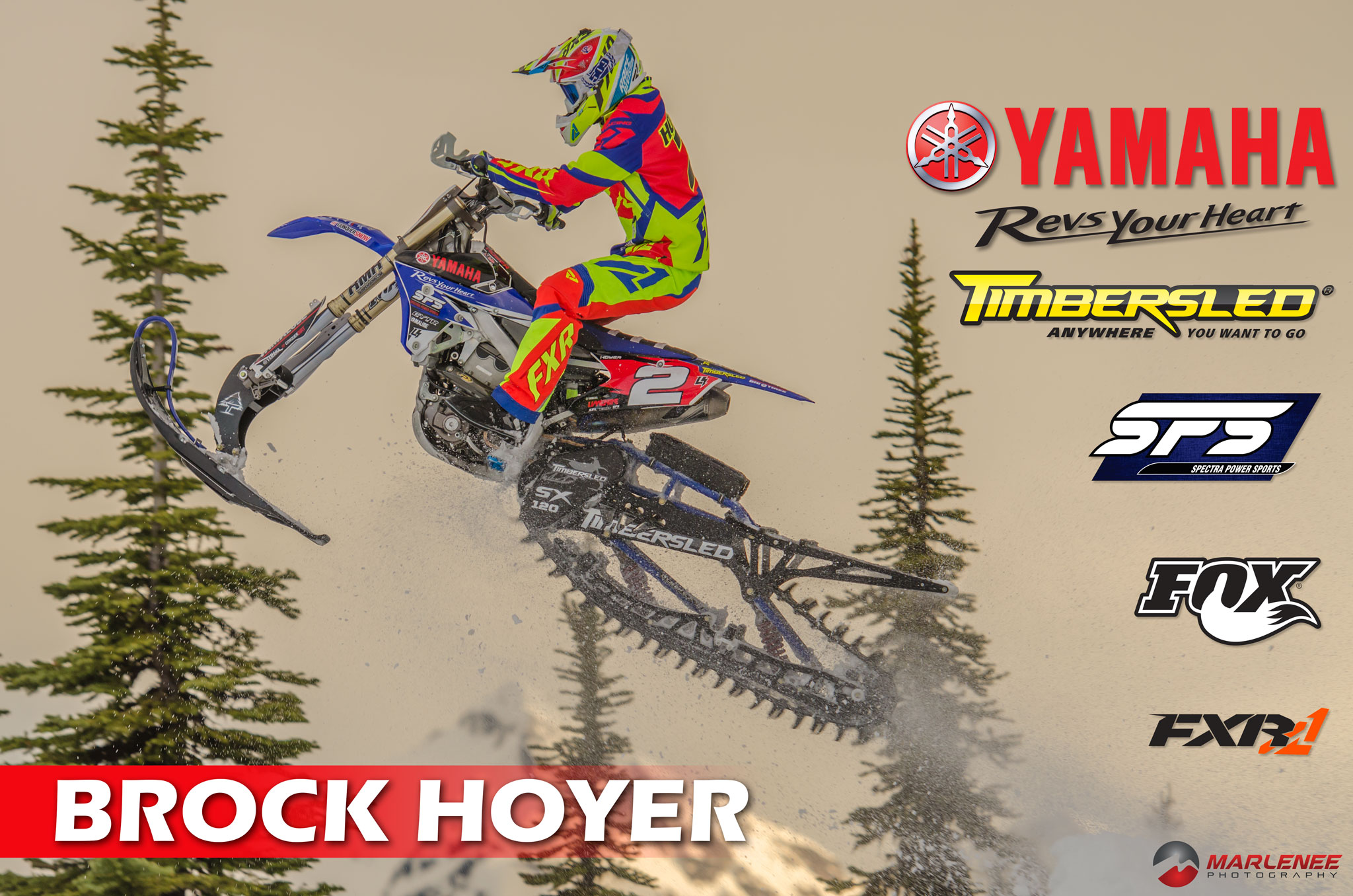 Brock Hoyer Timbersled Poster