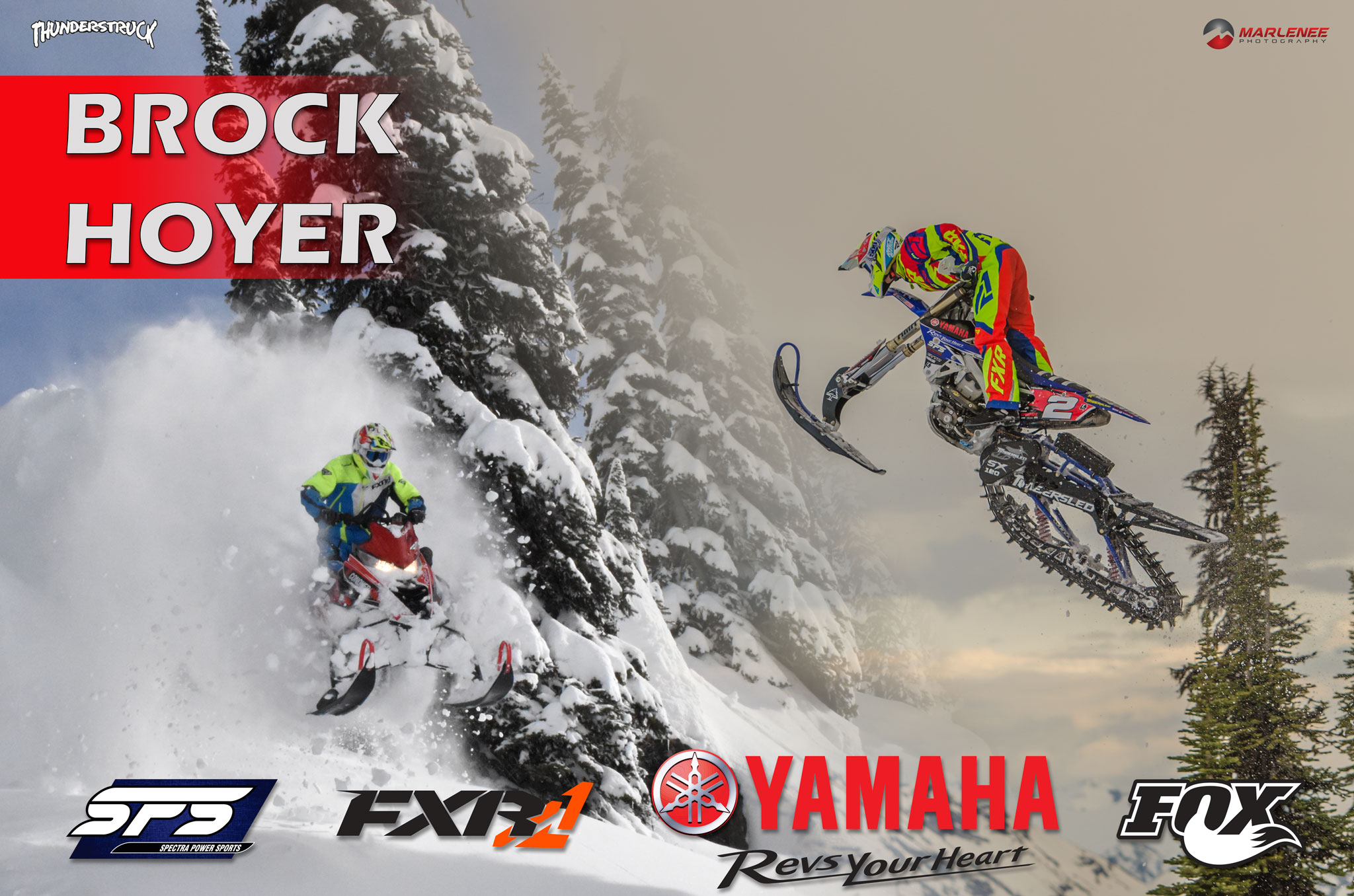 Brock Hoyer Sled and Bike Poster