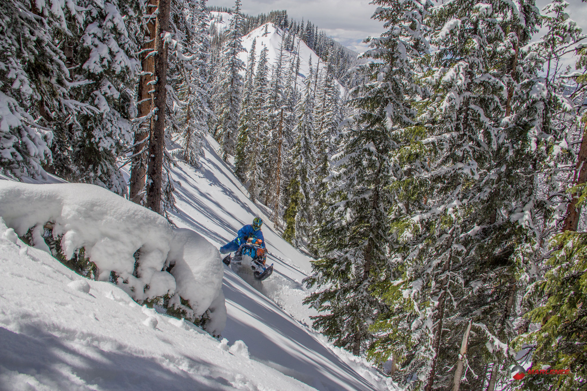 Adam Onasch in the Sticky Spring Snow - Photo by Matt Entz
