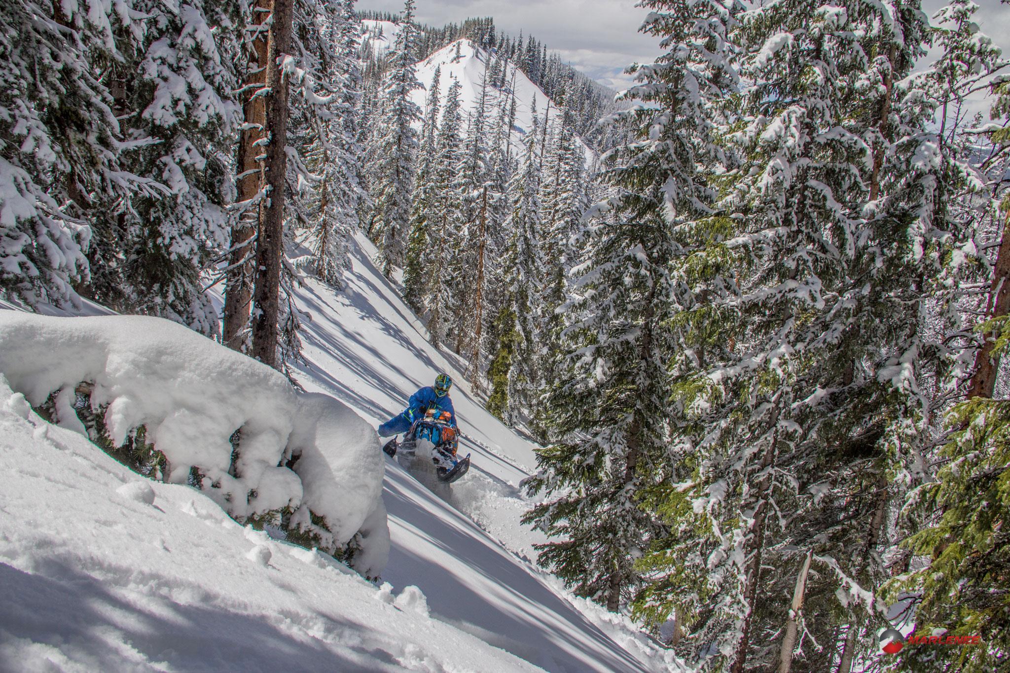 Adam Onasch in the Sticky Spring Snow - Photo by Matt Entz